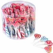 Handmade Swirl Heart Lollipops - 40CT Tub