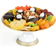 Dried Fruit Porcelain Cake Tray