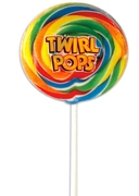 Rainbow Swirl Whirly Pop - 8-Inches