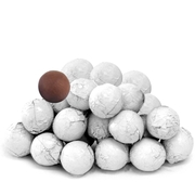White Foiled Milk Chocolate Balls