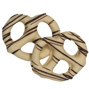 Stringed White Chocolate Covered Pretzels - 10CT