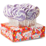 Lavender & White Swirl Whirly Pops - Grape