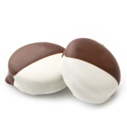 Black and White Chocolate Coated Sandwich Cookies