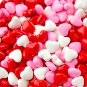 Valentine Hearts Pressed Candy - 2 LB Bag