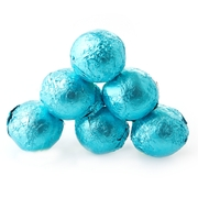 Caribbean Blue Foiled Milk Chocolate Balls