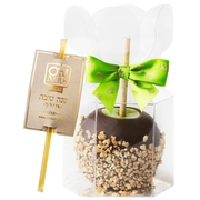 Chocolate Dipped Apple With Honey Straw