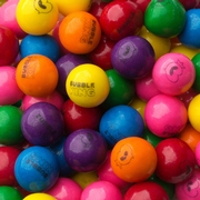 Bubble Gum Balls Printed with Bubble King Logo