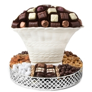 Oval White Chocolate & Nut Gift Basket