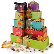 Oh! Nuts Holiday 5 Tier Nuts & Dried Fruit Tower Gift