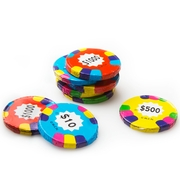 Milk Chocolate Assorted Poker Chips