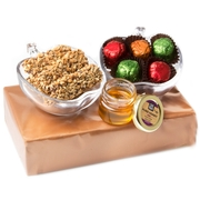 Rosh Hashanah Glass Apple Dishes Gift Basket