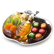 Rosh Hashanah Stainless Steel Apple Plate Gift Basket