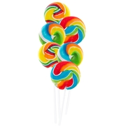 Rainbow Swirl Bouquet Lollipops - 18 CT Box