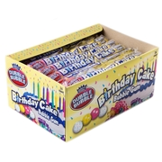 Dubble Bubble Birthday Cake Gumballs 8-Pc Tubes - 24CT Box