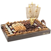 Rosh Hashanah Wooden Gift Tray - X-Large