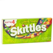 Kosher Skittles Candy Crazy Sours - 4 Pack (4x1.5oz)