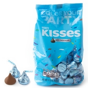 Light Blue Hershey's Kisses - 17.6oz Bag
