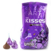Purple Hershey's Kisses - 17.6oz Bag