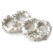 White Chocolate Covered Pretzels with Silver Pearls