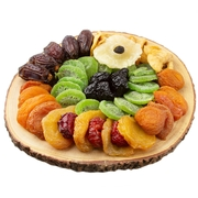 Rustic Wooden Log Dried Fruits Platter