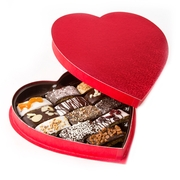 Mothers Day Biscotti Heart Shaped Gift Box