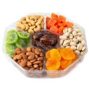 7 Section Dried Fruit & Nut Tray - 2 LB Platter