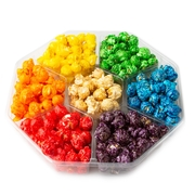 7-Section Candy Coated Popcorn Sampler Tray