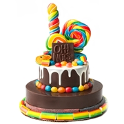 Hand Made Dome Belgian Chocolate & Candies 2-Tier SMASH CAKE