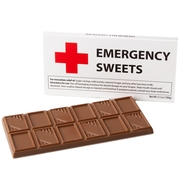 'Emergency Sweets' Humor Chocolate Bar Get Well Favor