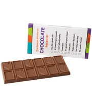 'You Deserve This Bar of Chocolate Because' Humor Chocolate Bar Favor