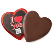 'I Love You' Dark Belgian Chocolate Messgage Heart
