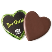 'You Did It' Dark Belgian Chocolate Message Heart