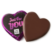 'Just For You' Dark Belgian Chocolate Message Heart