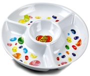 Jelly Belly White Melamine Chip & Dip Tray