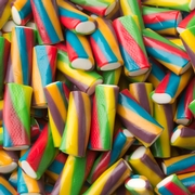 Multicolored Licorice Cream Bites - 2.2 LB Bag