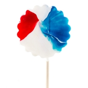 Patriotic Pinwheel Lollipops - 9 CT