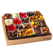 Cork Tray Candy & Chocolate Gift Basket