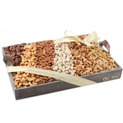 Nut Line-Up Gift Basket - large 12