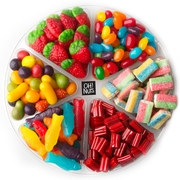 6 Section Candy - 1 LB Platter
