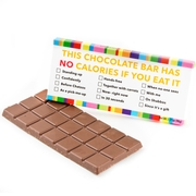 'This Chocolate Bar has No Calories If You Eat It...' Humor Chocolate Bar Favor