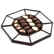 Elegant Mirrored Décor Truffle Tray