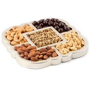 Elegant Square Mirrored Décor Nuts and Chocolates Tray