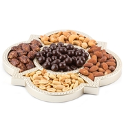 Elegant Mirrored Décor Nuts and Chocolates Tray