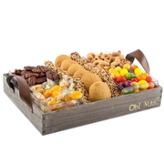 Wooden Rosh Hashanah Line Up Basket