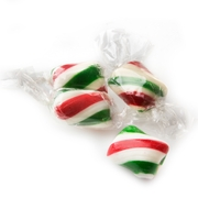Green, Red & White Mint Twists Hard Candy