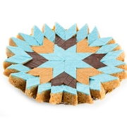 Handcrafted Blue Peanut Diamond Chew Platter - Medium