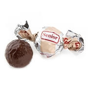 Senior Beige & Silver Dark Chocolate Praline with Chocolate Filling - 2.2 LB