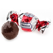 Senior Red & Silver Dark Chocolate Praline with Chocolate Filling - 2.2 LB