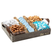 Wooden Baby Boy Nuts & Chocolate Cubes Line Up - Large