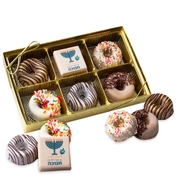 Hanukkah Premium Parve Chocolate Gift Box - 6CT